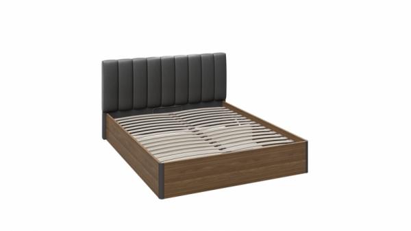 Кровать «Харрис» с мягким изголовьем и подъемным механизмом (Дуб американский/Серебряный гранит)