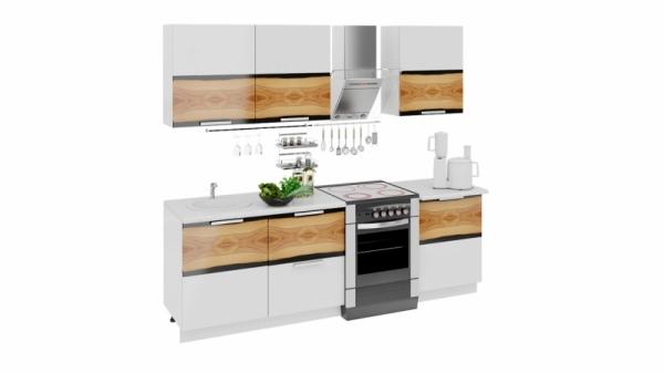 Кухонный гарнитур длиной - 240 см (ФЭНТЕЗИ (Вуд))