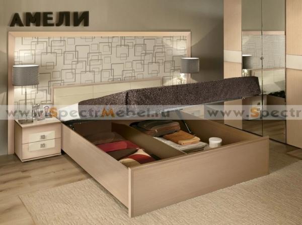 Спальный гарнитур Амели кровать с подъёмным механизмом