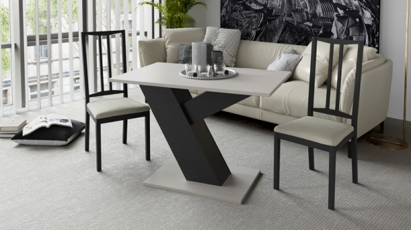 Стол обеденный «Рейн» Тип 1 (Фон черный/Каттхилт)
