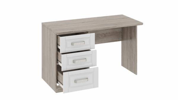 Письменный стол с 3-мя ящиками «Прованс» (Дуб Сонома трюфель/Крем)
