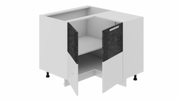 Шкаф напольный нестандартный угловой с углом 90° НнУ90_72_2ДР(НнУ) (Фэнтези (Лайнс))