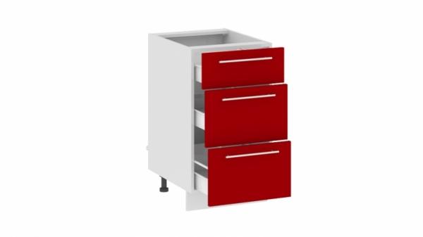 Шкаф напольный с 3-мя ящиками Н(3)3я_72-45_3Я (АССОРТИ (Вишня))