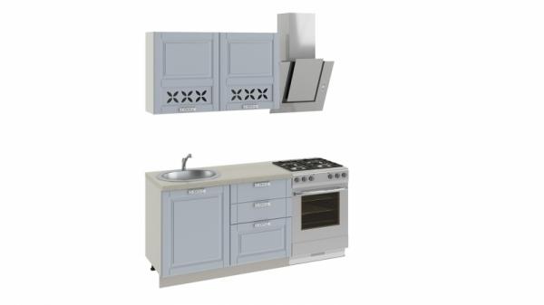 Кухонный гарнитур длиной - 180 см (СКАЙ (Голубая))