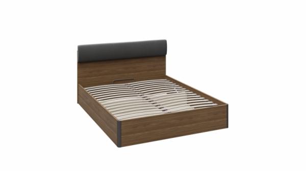 Кровать «Харрис» с мягким элементом к спинке и подъемным механизмом тип 1 (Дуб американский/Серебряный гранит)