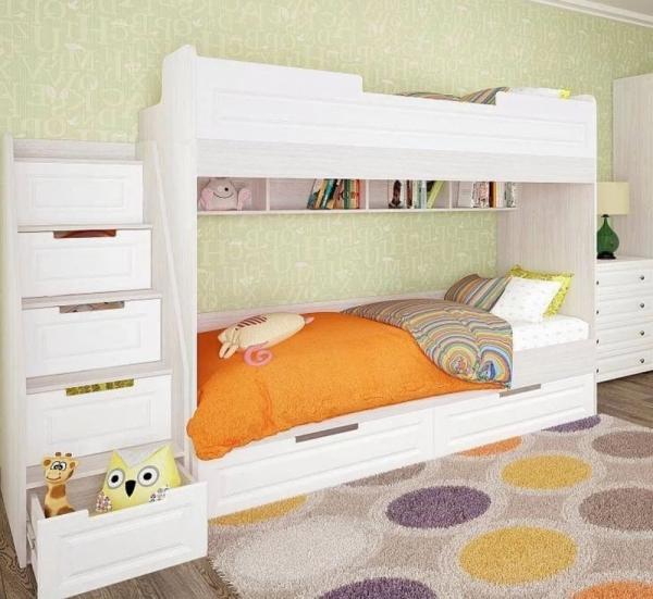 Кровать двухъярусная детская МДФ