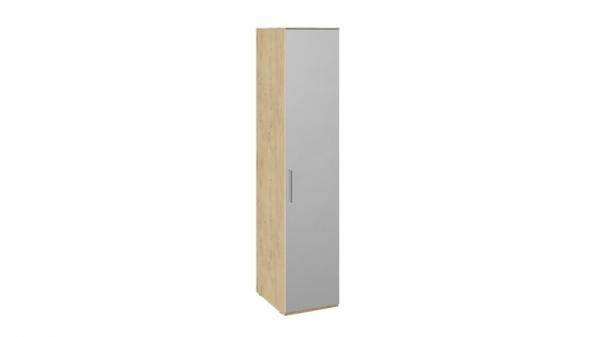 Шкаф для белья с зеркальной дверью правый «Квадро» (Бунратти/Белый глянец)