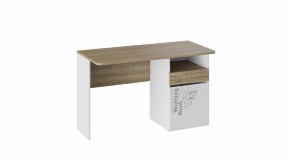 Стол с ящиками «Оксфорд» (Ривьера/Белый с рисунком)