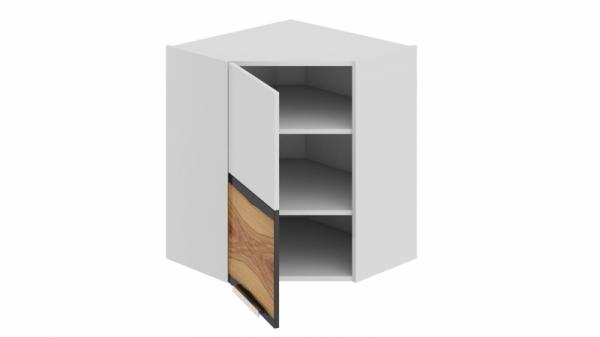 Шкаф навесной угловой с углом 45 (левый) ВУ45_72-(40)_1ДР(А) Белая 72 см